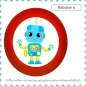 Mobile Preview: Kindermöbelgriff Roboter Massivholz Buche individuell