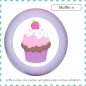 Mobile Preview: Bunter Holz Schubladenknopf Muffin Cupcake Massivholz Buche individuell