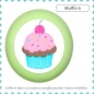 Mobile Preview: Bunter Holz Kommodenknauf Muffin Cupcake Massivholz Buche individuell