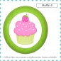 Preview: Bunter Holz Holzknauf Muffin Cupcake Massivholz Buche individuell