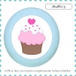 Preview: Bunter Holz Schubladengriff Muffin Cupcake Massivholz Buche individuell