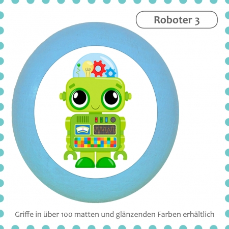 Kommodengriff Roboter Massivholz Buche individuell